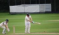 Surrey Captain Mike O'Mahony bats against Lancashire