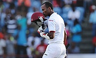 Kraigg Brathwaite led the West Indies fightback on day four with a scintillating century against England in the second Test in Grenada.