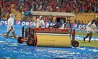 Rain abandoned the game between Royal Challengers Bangalore and Rajasthan Royals at the Chinnaswamy Stadium on Wednesday.
