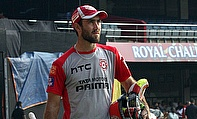 Glenn Maxwell during the practice session at the Chinnaswamy stadium ahead of the clash against Royal Challengers Bangalore.