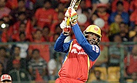 Chris Gayle was at his attacking best against Kings XI Punjab scoring a 57-ball 117 helping Royal Challengers Bangalore to a 138-run win.