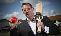 Richard Read, Director of Dyno Franchise Great Bay Ltd, pictured with the orange Dyno cricket balls, which will be used throughout the competition.