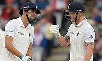 Alastair Cook (left) and Ben Stokes (right) put on a 132-run stand as England dominated day four taking a 295-run lead at the Lord's.