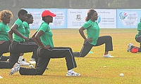 Zimbabwe Women warming up
