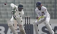 Mominul Haque plays a shot