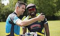 Chris Gayle and Kevin Pietersen face off in the CPL Big Six Challenge