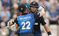 Kane Williamson and Ross Taylor put on a record breaking 206-run stand as New Zealand defeated England by three wickets in Southampton.