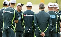 Australia during training for The Ashes
