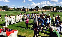 The presentation at the final of the ECB/ESCA U15 Trophy