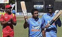 Ambati Rayudu resurrected the Indian innings with a fluent unbeaten 124-run knock.