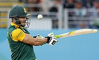 Faf du Plessis scored an unbeaten 63 after an impressive six-wicket haul by Kagiso Rabada as South Africa demolished Bangladesh by eight wickets.
