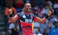 Dwayne Bravo recorded figures of 4-29 as Trinidad & Tobago defeated St Kitts by six wickets.