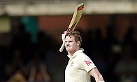 Steve Smith celebrates his century at Lord's