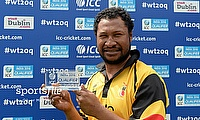 Assad Valla was named the player of the match for his all-round performance taking PNG to a eight-wicket win over Nepal