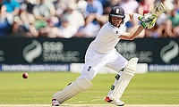 Ian Bell plays a shot during the first Ashes Test in Cardiff