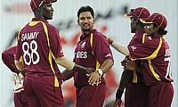 Ravi Rampaul (centre) says Glenn McGrath was his cricketing inspiration