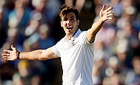 Steven Finn picked up a five-wicket haul as England restricted Australia to 168 for seven in their second innings of Edgbaston Test.