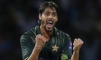 Anwar Ali celebrating the wicket of Kusal Perera in the second T20I between Sri Lanka and Pakistan in Colombo.
