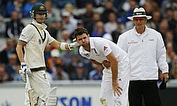 Michael Clarke (left) believes James Anderson's (right) absence in the fourth Test at Trent Bridge will benefit Australia.