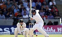 Ian Bell hits out during the Edgbaston Test