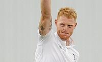 Ben Stokes celebrating his five-wicket haul against Australia at Trent Bridge.