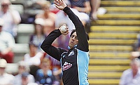 Saeed Ajmal in action for Worcestershire