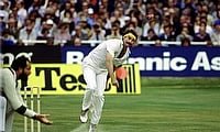 Dennis Lillee in action