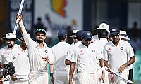 India celebrate after bowling Sri Lanka out in Colombo