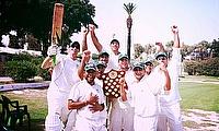 Krishna CC celebrate victory in the Malta Cricket CricHQ Summer League