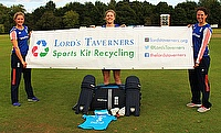 Sarah Taylor, Heather Knight and Georgia Elwiss get behind the launch