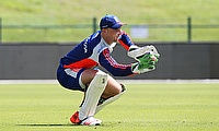 Jos Buttler in training in the UAE