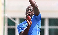 Carlos Brathwaite scored a 50-ball century as West Indies defeated Sri Lanka Board Presidents XI in the tour game by D/L method.