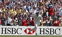 Matthew Hoggard in action for England in Australia