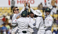 India strike back with two wickets after folding out for 215