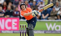 Sam Billings scored a 24-ball half-century for England in the first T20I against Pakistan in Dubai.