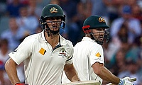 Mitchell Marsh (left) and Shaun Marsh (right) added 46 runs for the fifth wicket against New Zealand on day three of the Adelaide Test.