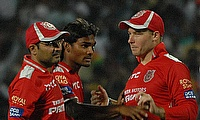 David Miller (right) will lead the Kings XI Punjab side which will be mentored by Virender Sehwag (left).