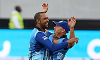 Robin Peterson (left) registered figures of 10 for two in the semi-final against the Virgo Super Kings.