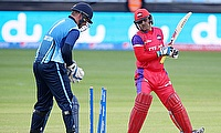 Virender Sehwag (right) was stumped on nine in the final of the MCL.