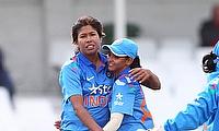 India celebrate a wicket