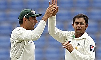 Misbah-ul-Haq and Saeed Ajmal
