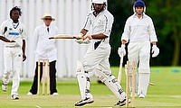 Here I am, left, taking a wicket - always a good feeling!