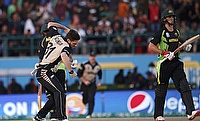 Australia collapsed from 62 for two to 134 for nine in their innings against New Zealand.