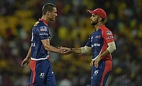 Nathan Coulter-Nile (right) now will remain the only Australian in the Delhi Daredevils squad.