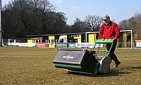 East Grinstead FC's Geoff Gilbert gives the new Dennis G34D a big thumbs-up