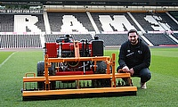 The new range of SISIS equipment is helping the team at Derby keep the playing surface in prime condition