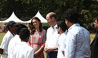 The Duke & Duchess of Cambridge at the Oval Maidan, Mumbai