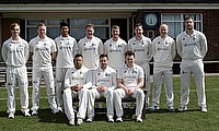 The 1st XI line up ahead of the game against Oulton Park