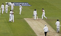 England celebrate the wicket of Nuwan Pradeep