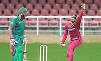 Hashim Amla (left) during the practice game against WICB President's XI.